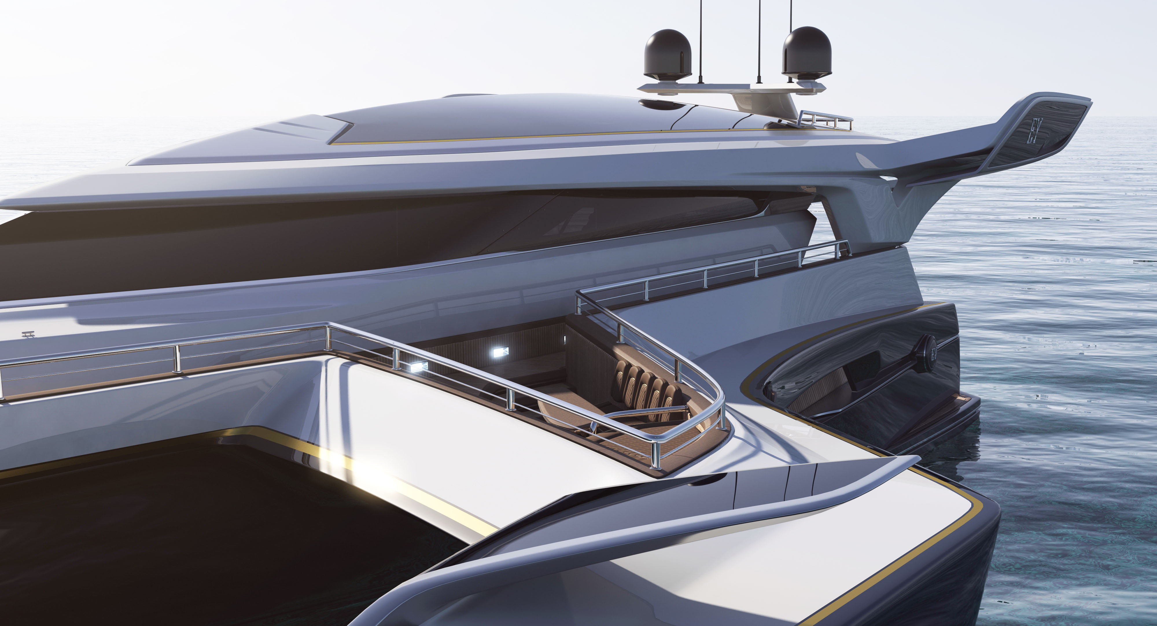 Dallas Auto Show >> New luxury yacht design of trimaran